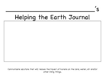 Helping the Earth Journal