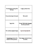 Helping/Linking Verb Cards