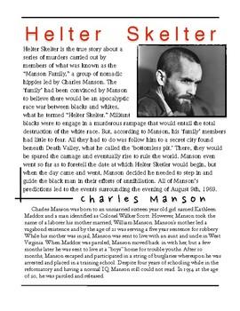 Helter Skelter - Charles Manson w/key