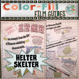 Helter Skelter Color-Fill Film Guide Doodle Notes