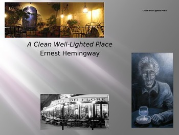 """Hemingway: """"A Clean Well-Lighted Place"""" Essential Journal Questions"""