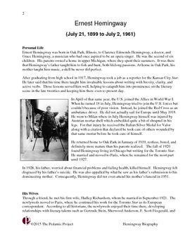 Hemingway Informational Text