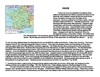 Hemingway's The Sun Also Rises: Style analysis using Maps of France and Spain