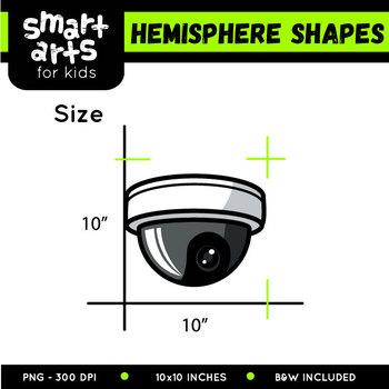 Hemisphere Shapes Clip Art