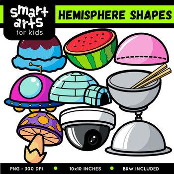 Hemisphere Shapes Cliparts