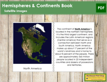 Hemisphere and Continent Book (Satellite Images)