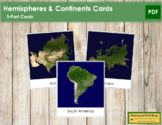 Hemisphere and Continent Cards