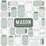 Hemlock Mason Jars Clipart & Vectors - Ball Jar Clipart