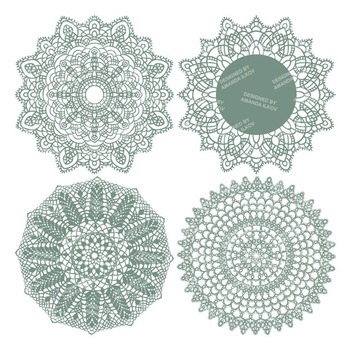 Hemlock Round Lace Doilies - Lace Doily, Vintage Doilies