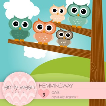 Hemingway - Owl Clip Art