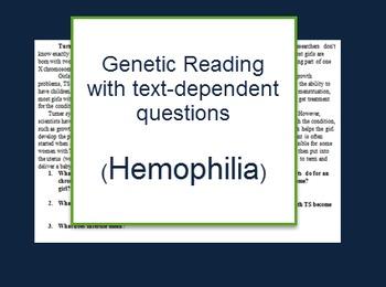 Genetics: Hemophilia reading and questions