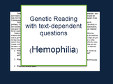 Genetics: Hemophilia reading and questions