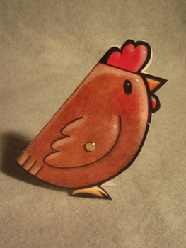 Hen Lays an Egg. Fun Two Sided Craft Art