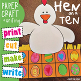 en Word Family - Ten Frame Craft {Hen on a Ten}