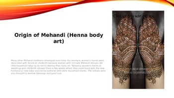 Henna Body Art Slide Show and Project