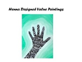 Henna Designed Monochromatic / Value Paintings-POWERPOINT