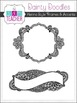 Doodle Frames: Henna Style, Borders & Accents Clipart Set