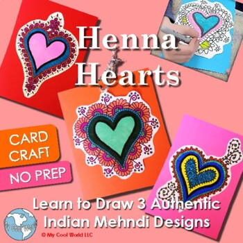Henna Valentine S Day Card Craft Learn To Draw Authentic Indian