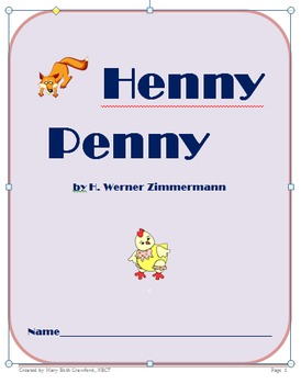Henny Penny {Comprehension and Skills Packet} Folktale by 4My2Gals