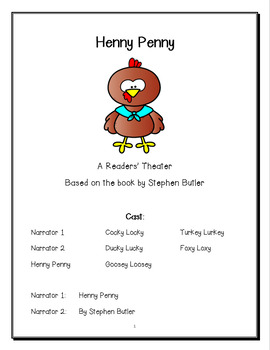 Henny Penny Readers Theater (Fables and Folktales)