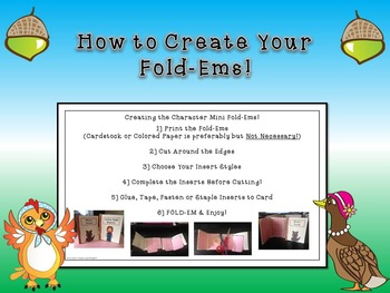 """Henny Penny: """"The Sky Is Falling!"""" Character Fold-Ems"""