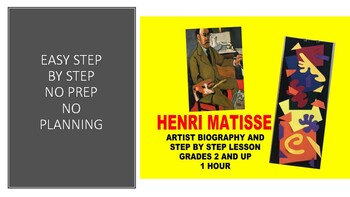 Henri Matisse Art Project and artist biography no prep collage power point