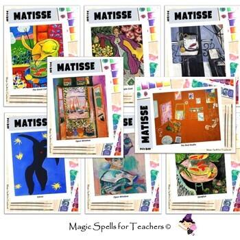 Henri Matisse - Art Task Cards - 50 Cards Set