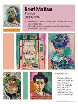 Henri Matisse Artist Poster