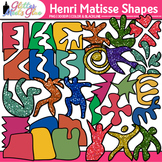 Henri Matisse Shapes Clip Art   Collage Cutout Shapes for Art History, Lessons