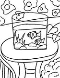 Henri Matisse Goldfish Coloring Page