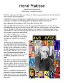 Henri Matisse Info Sheet