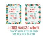 Henri Matisse Inspirational Poster 1
