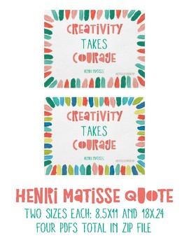 Henri Matisse Inspirational Poster 2