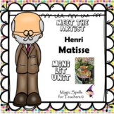 Henri Matisse - Famous Artists Art & Biography Unit - DISTANCE LEARNING - PACK