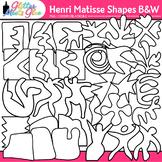 Henri Matisse Shapes Clip Art: Collage Cutout Shapes B&W {Glitter Meets Glue}