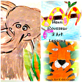 Henri Rousseau Art History Lessons 3 Pack History Lesson w