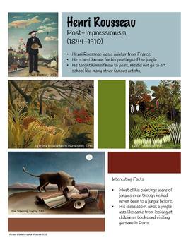 Henri Rousseau Artist Poster
