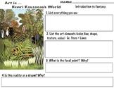 "Henri Rousseau ""Fantasy Jungle"" Flora & Fauna of Paris Botanical Gardens (9 pgs)"