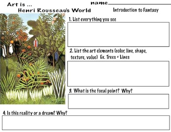 "Henri Rousseau ""Fantasy Jungle"" Flora & Fauna of Paris Bot"