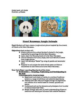 Henri Rousseau Jungle Animals
