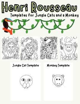 Henri Rousseau Jungle Cat or Monkey Drawing