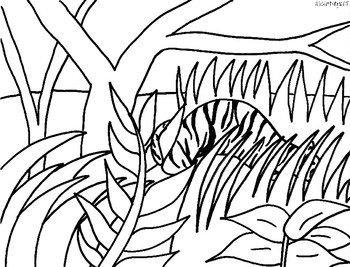Henri Rousseau Jungle Color Sheet by Creativity in Connecticut TpT