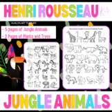 Henri Rousseau Kids Elementary Art Jungle Animals Drawing