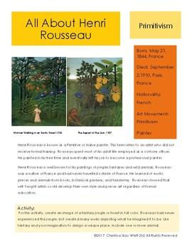 Henri Rousseau Sketchbook Prompt
