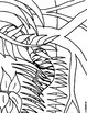 Henri Rousseau Tiger - Tracers and Coloring Page