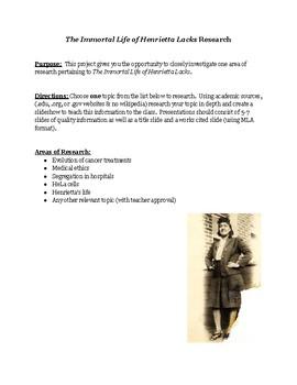 Henrietta Lacks Research Project