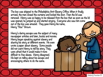 Henry Box Brown: His Amazing Journey- Nonfiction Mini-Lesson