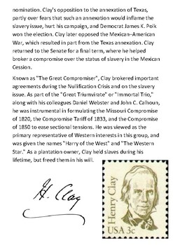 Henry Clay Sr. Handout