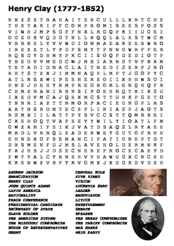 Henry Clay Word Search