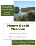 Henry David Thoreau ACT English Practice Questions